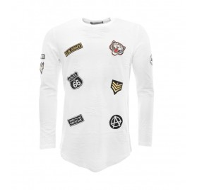 T-SHIRT MANCHES LONGUES À PATCHES HOMME GOV DENIM