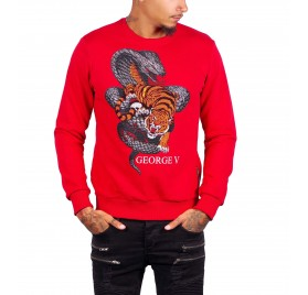 Pull Rouge Tiger GEORGE V